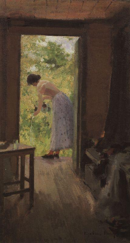 На даче. Константин Алексеевич Коровин. 1895