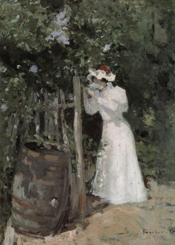 Летом. Сирень. Константин Алексеевич Коровин. 1895