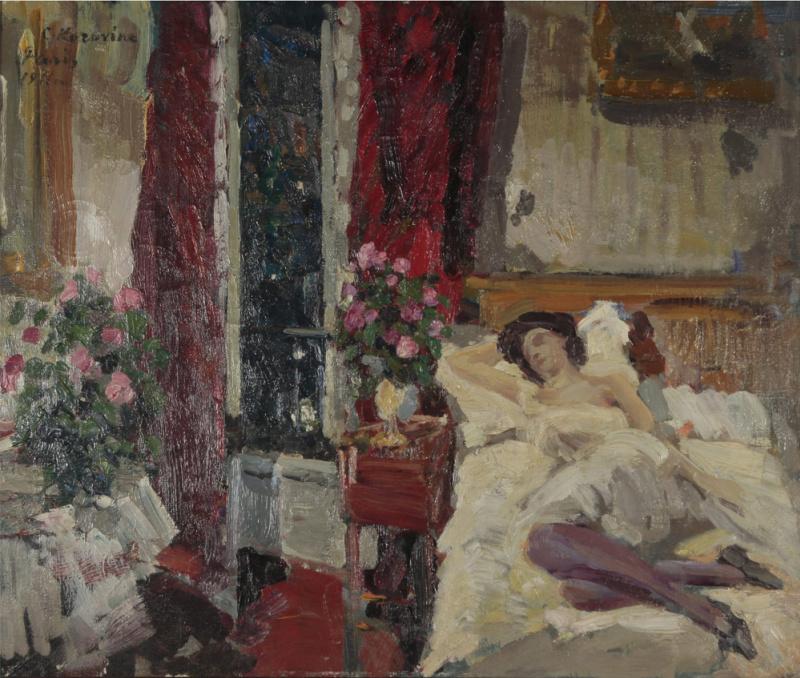 В комнате. Константин Алексеевич Коровин. 1911