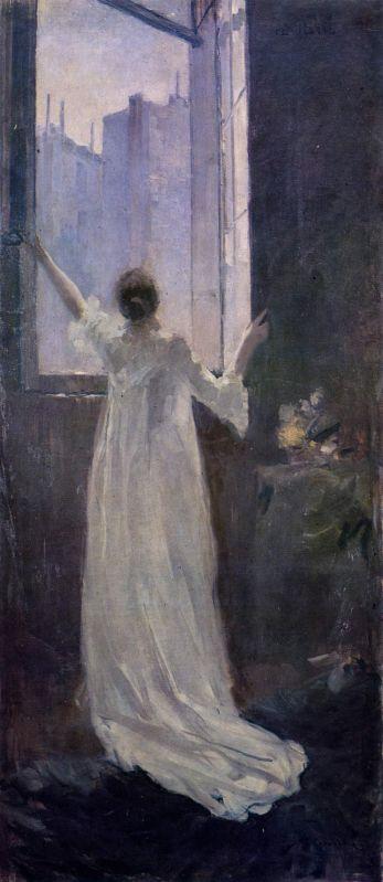 У окна.Константин Алексеевич Коровин. 1893