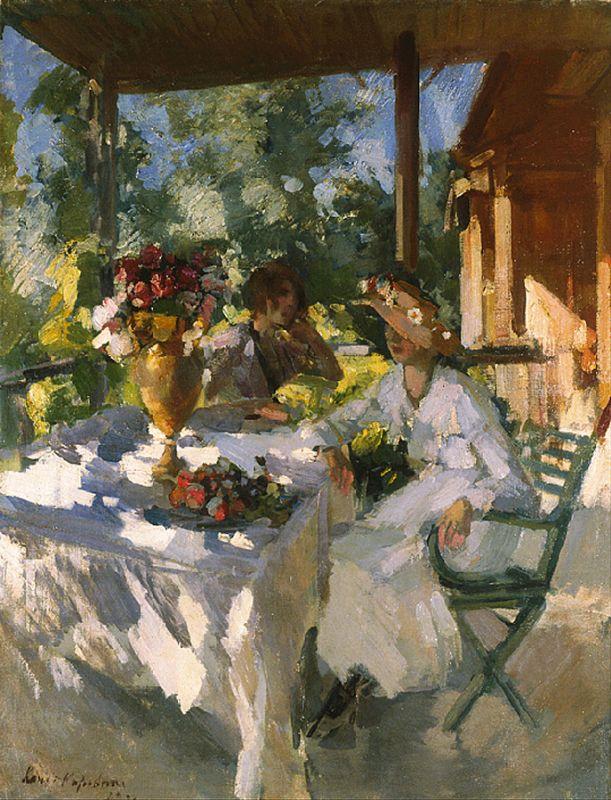 Две дамы на террасе. Константин Алексеевич Коровин. 1911
