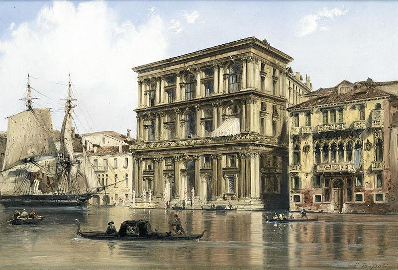 Carlo Bossoli - Sul Canal Grande, Venezia