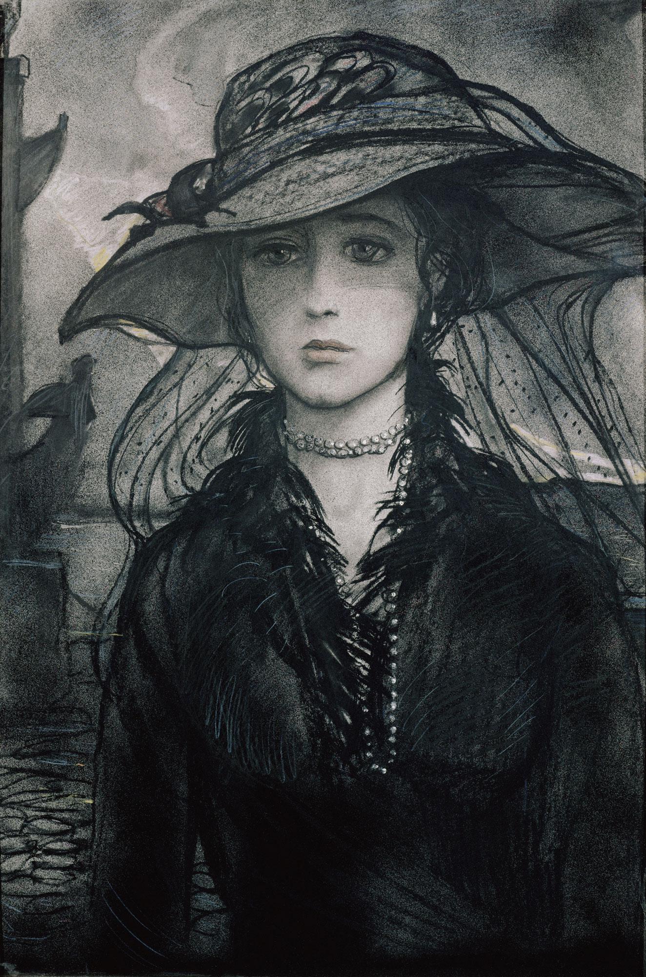 "Незнакомка. Иллюстрация к стихотворению А.А. Блока ""Незнакомка"", 1978"