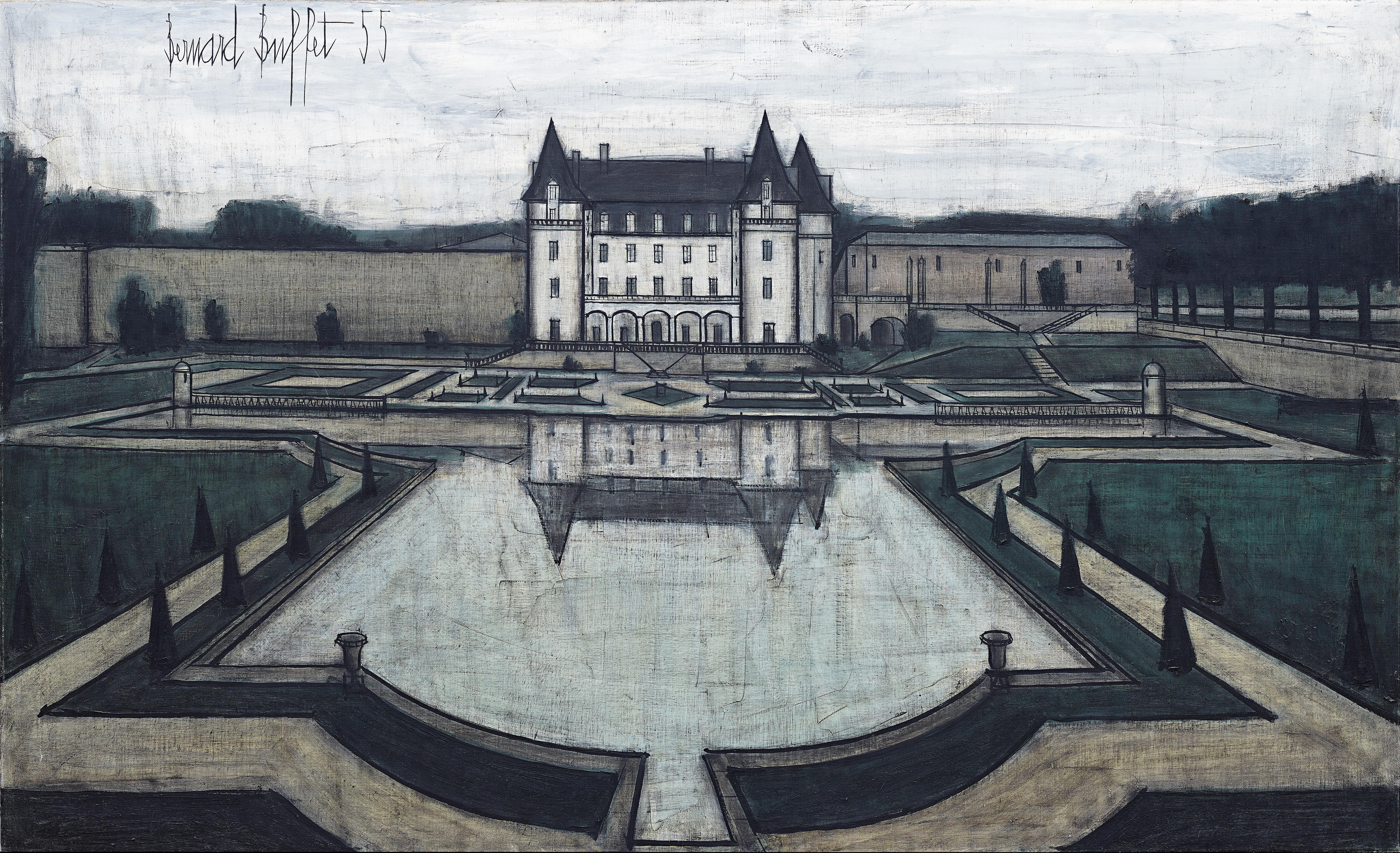Bernard Buffet (Paris 1928–1999). Le Château, 1955, t 1955,  oil on canvas