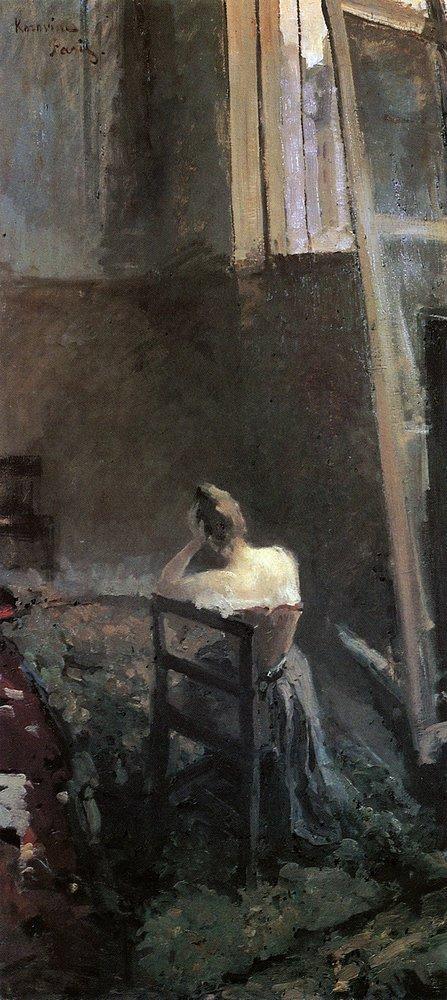 В мастерской художника. Константин Алексеевич Коровин. 1890-е