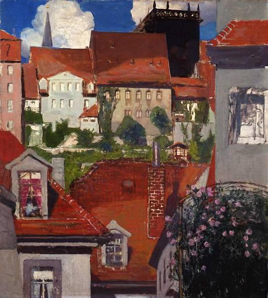 Красные крыши. Мейсен, 1905