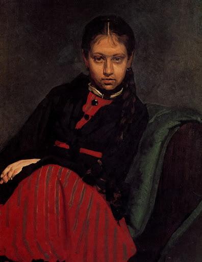 Репин И.Е. -Портрет В.А. Шевцовой, 1869. Государственный Русский музей