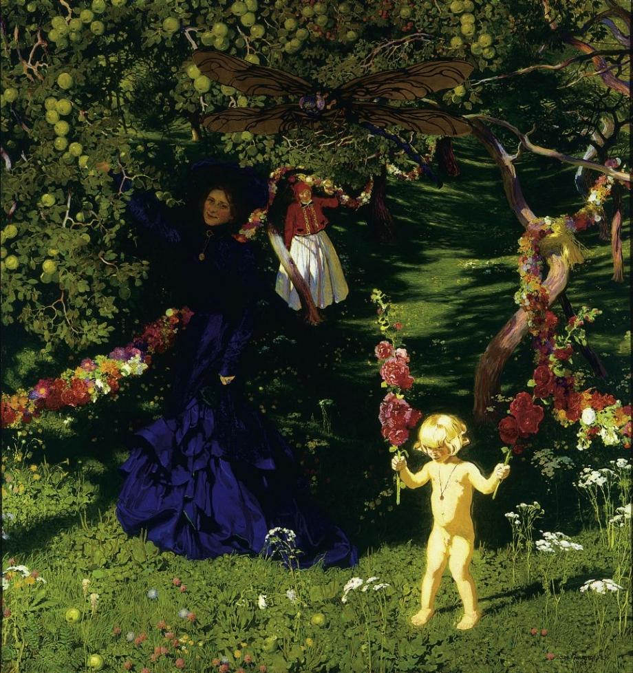 Юзеф Мехоффер, «Чудесный сад», 1902–1903, холст, масло, 217 x 208 см, фото: Варшавский национальный музей
