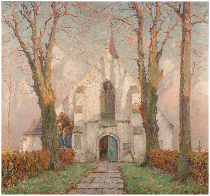 La petite église de Sint-Jakobs-Kapelle (ca. 1914)