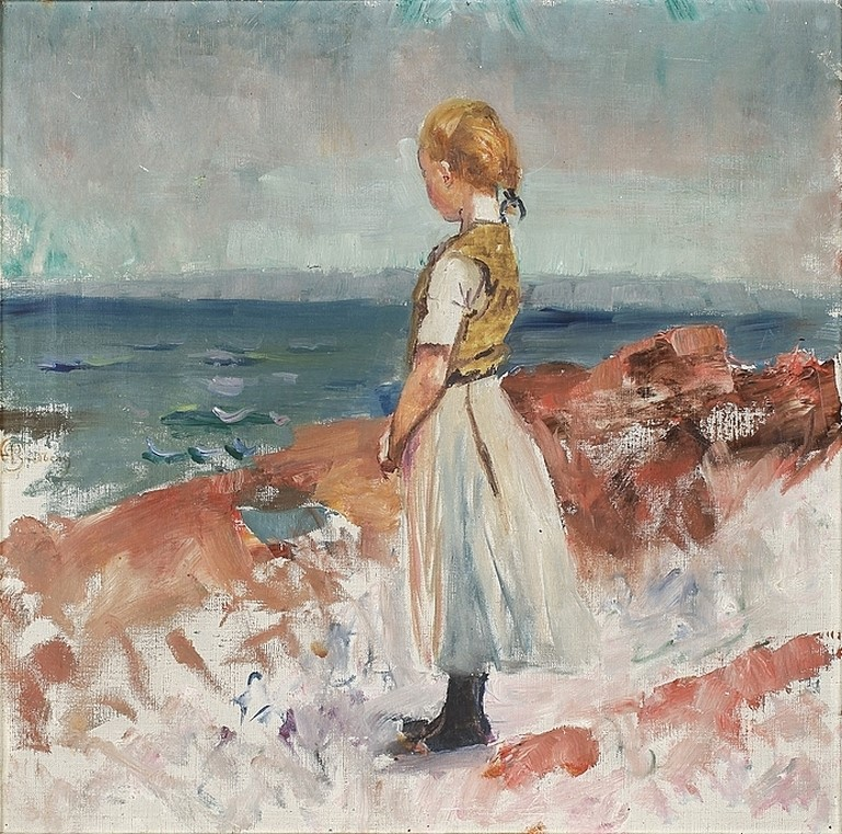 Mina Carlson (née Bredberg) (Swedish painter) 1857 - 1943. Från Arild, s.d. oil on canvas. private collection