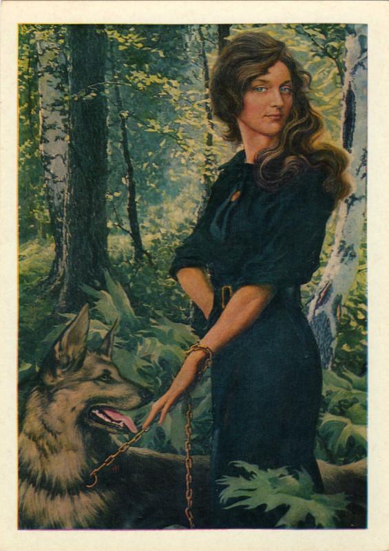2. Портрет сестры Людмилы. 1968