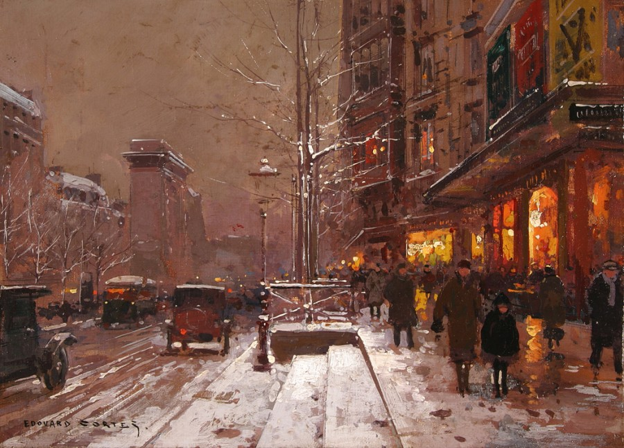 edouard_leon_cortes_b1205_porte_st_denis_in_winter