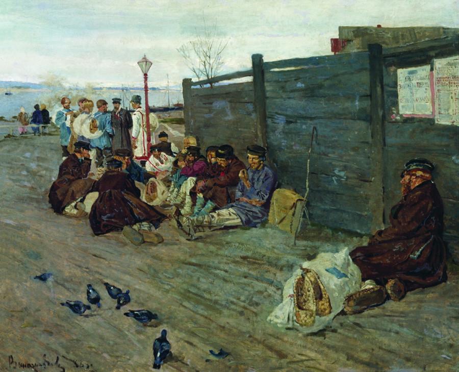 Без работы (В ожидании парома). 1888