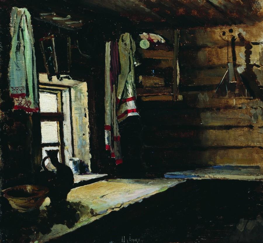 В избе. 1890
