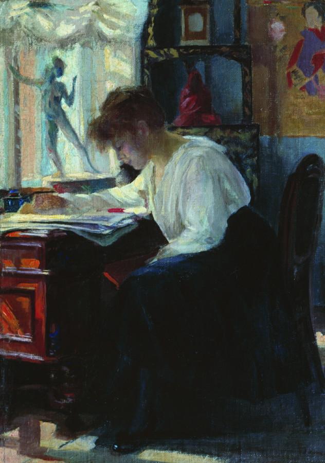 В мастерской. 1900
