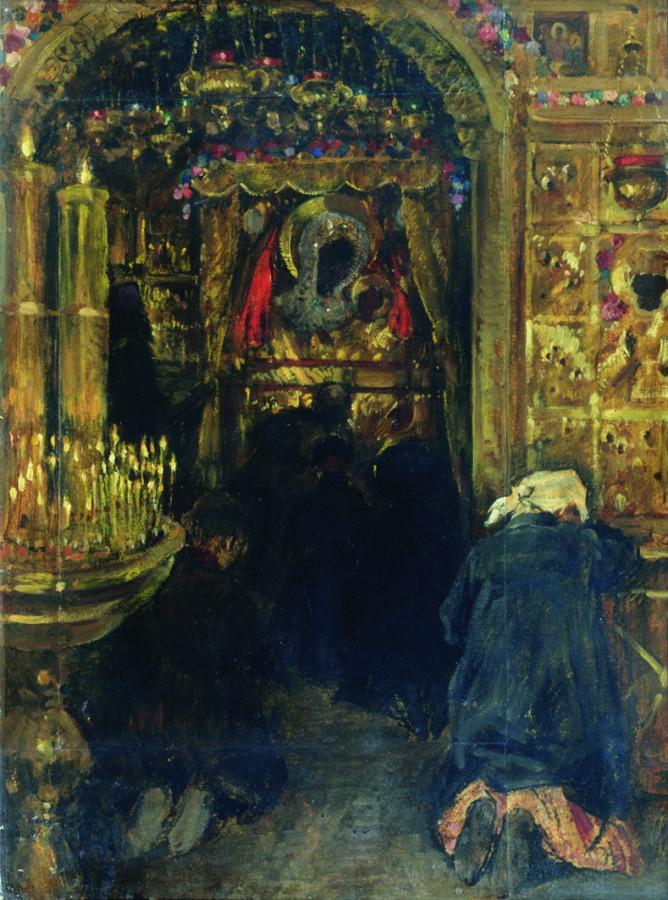 В церкви. Конец 1890-х