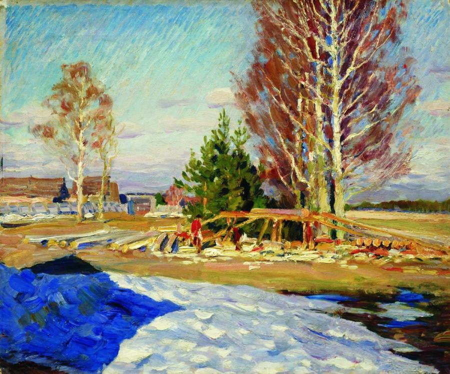 Весенний пейзаж. 1913