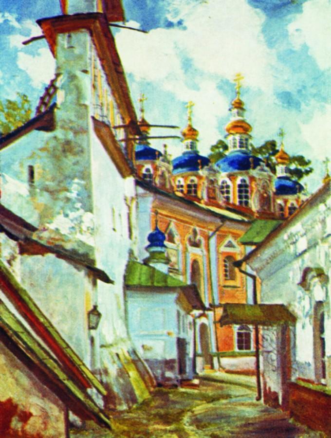 Вид на Печерский монастырь. 1929