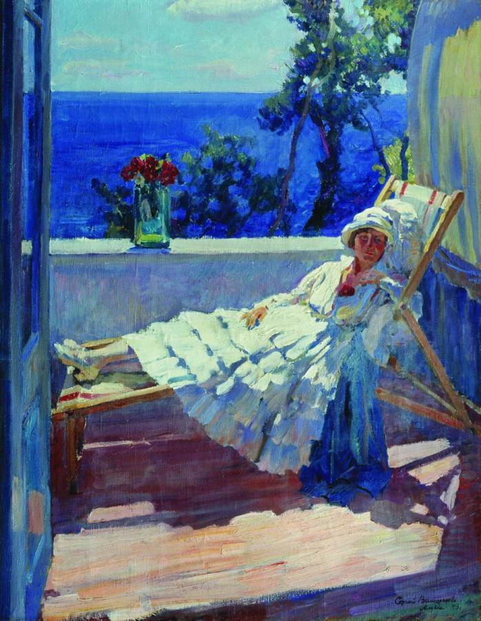 Дама на балконе. 1916