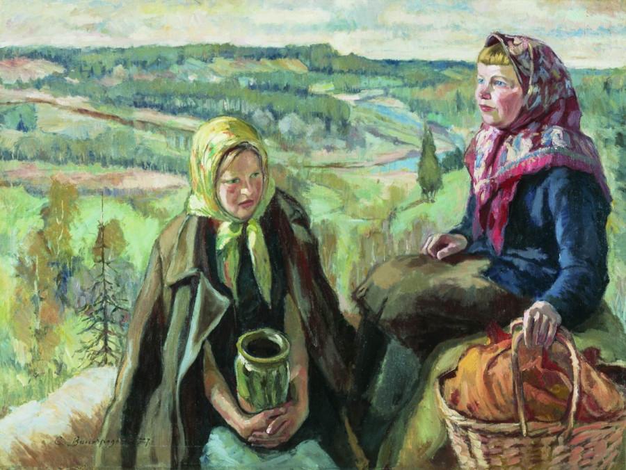 Деревенские девочки. 1927