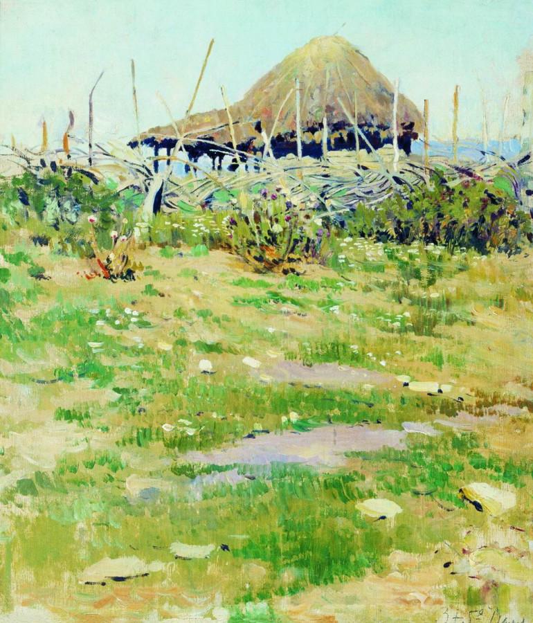 Изба. Этюд. 1890