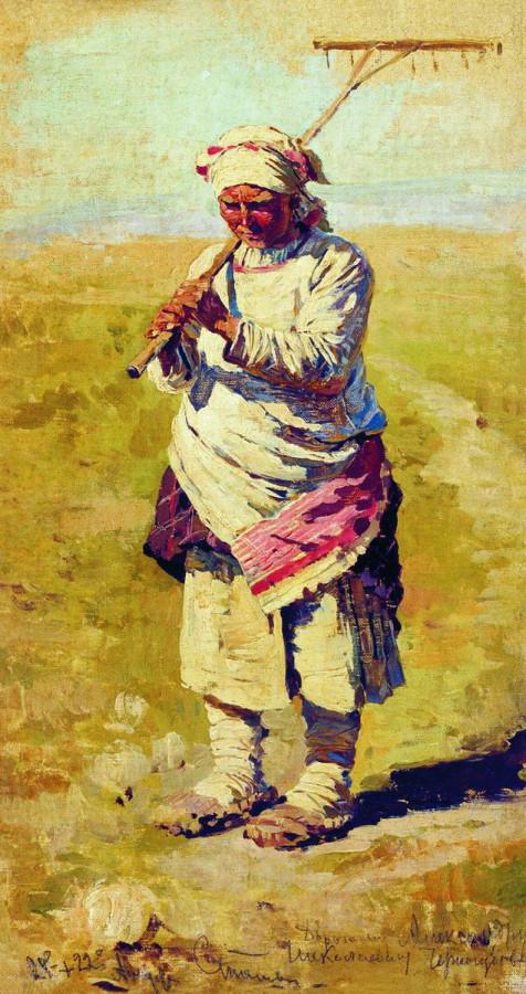Крестьянка с граблями. Поденщица. Этюд. 1891