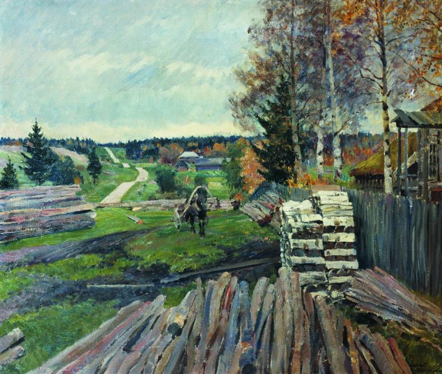 Латгальский пейзаж. Шоссе. 1925