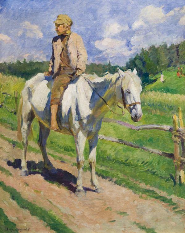 Мальчик на лошади. 1928