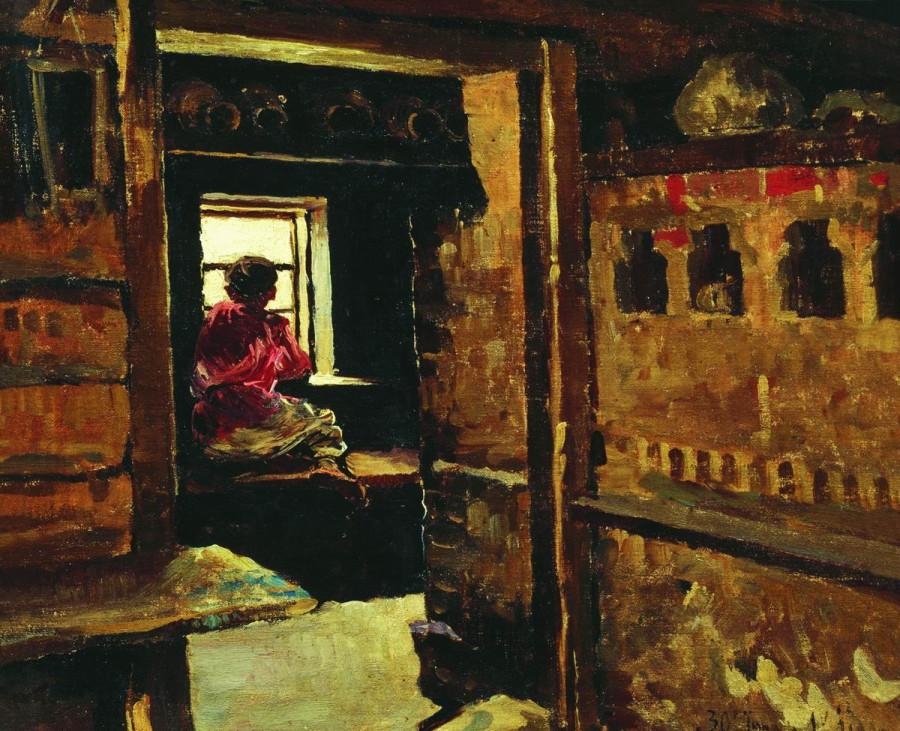 Мальчик у окна. 1890-е