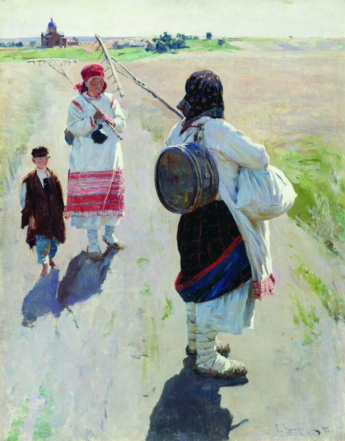 На работу. 1895