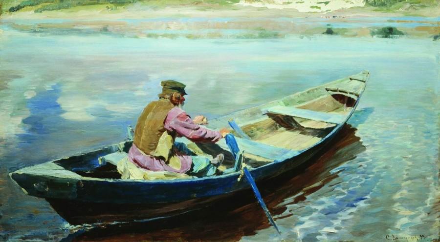 На реке. 1899