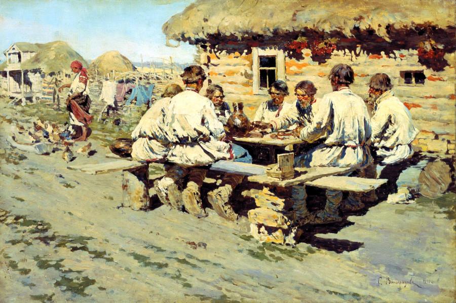 Обед работников. 1890