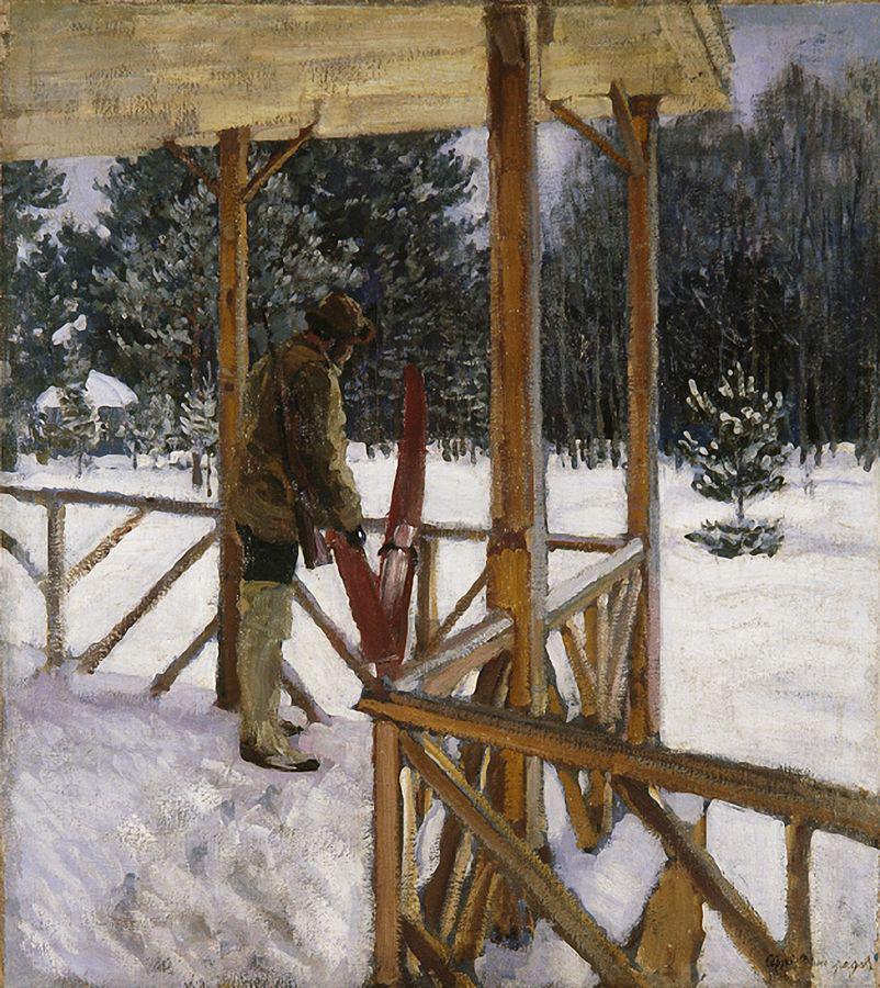Охотник с лыжами. 1912
