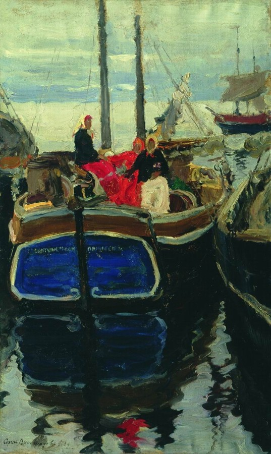Пристань на Волге. 1885