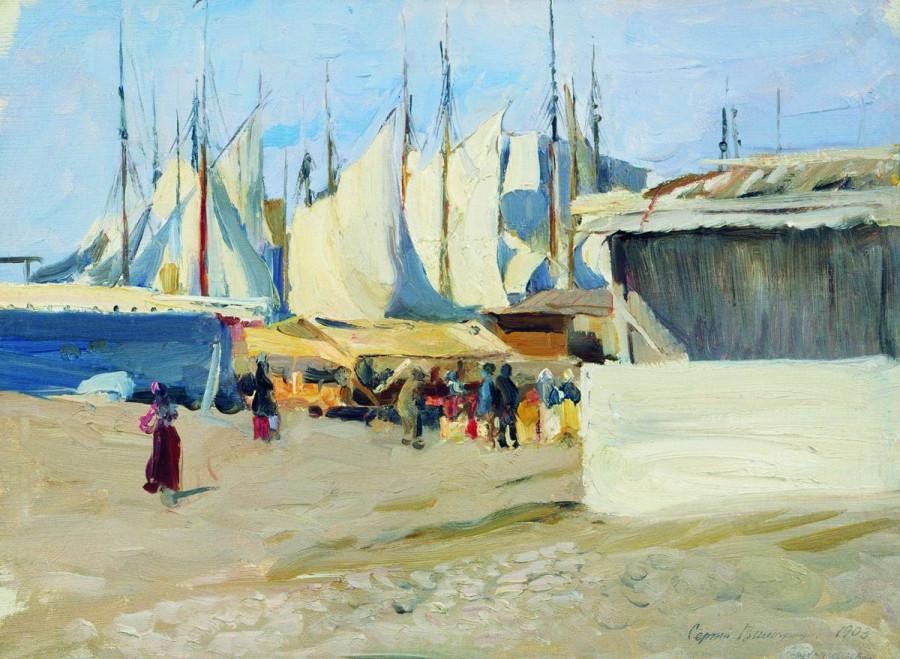 Пристань. Архангельск. 1903