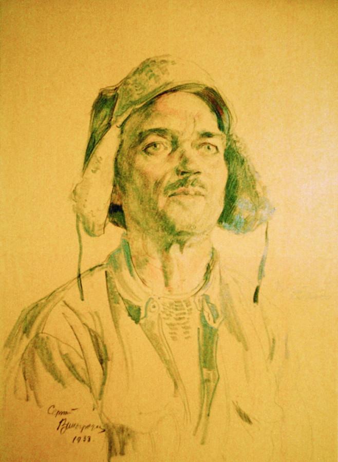 Рабочий-каменщик. 1933