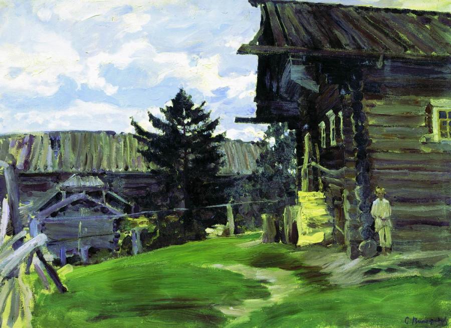 Северная деревня. 1902