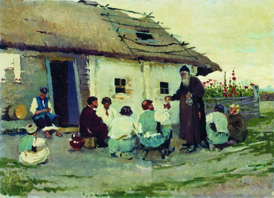 У корчмы. 1887