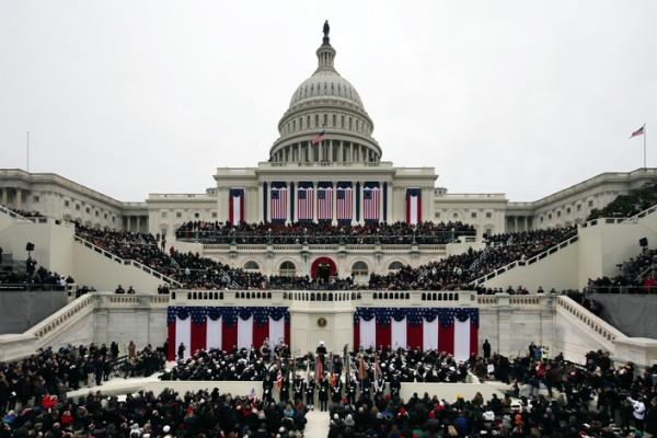 Президент Барак Обама во время своей инаугурационной речи, Вашингтон, США.