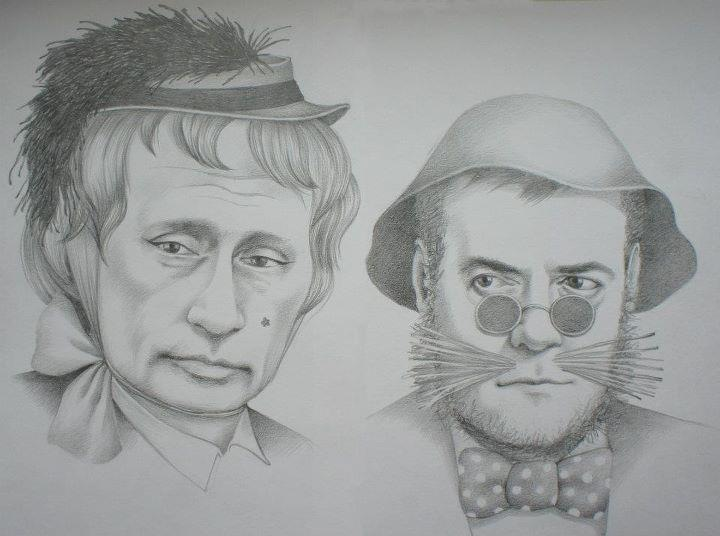 art-рисунок-Путин-Медведев-77435