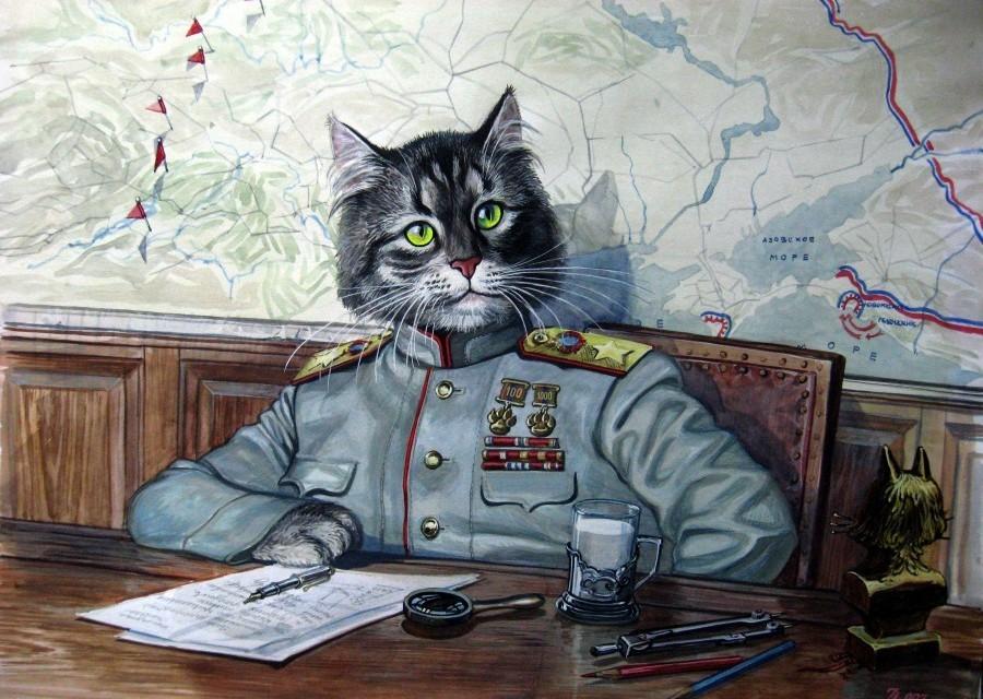 Коты нарисованные художниками
