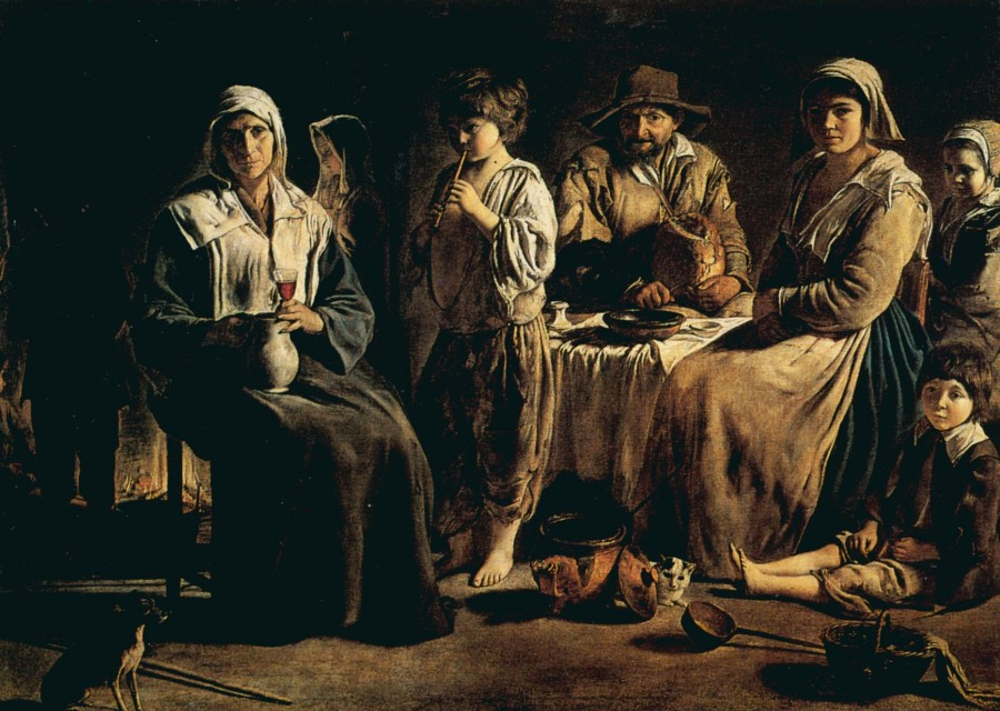 крестьянская семья в интерьере