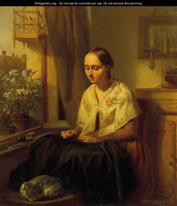 A_girl_doing_needlework