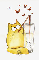Bubble cat by Maria-van-Bruggen