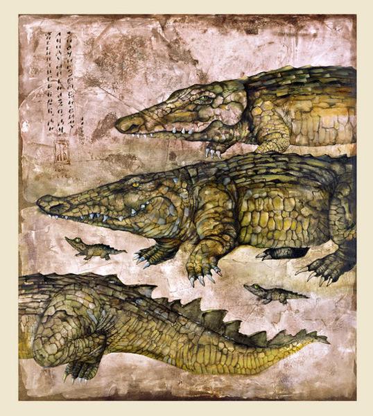 Мне снились крокодилы, ползущие на запах. Что значит этот сон – не в силах я понять. (2003г.)
