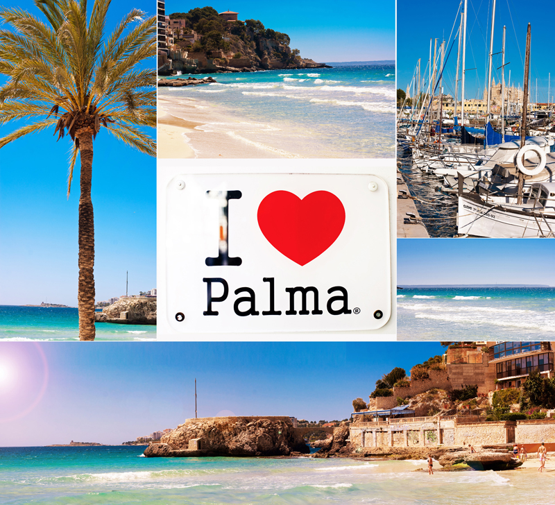 I love Palma kollaj puckcherry