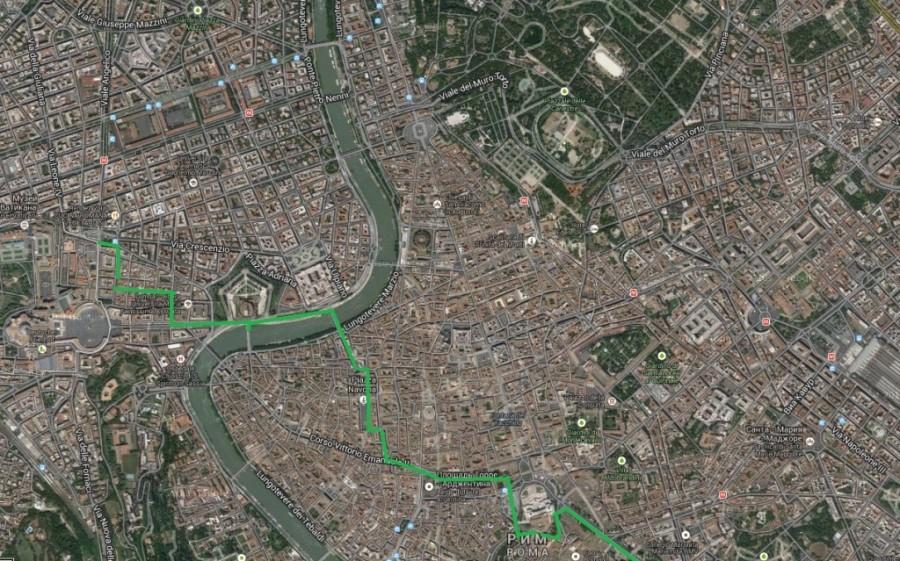 карта марш