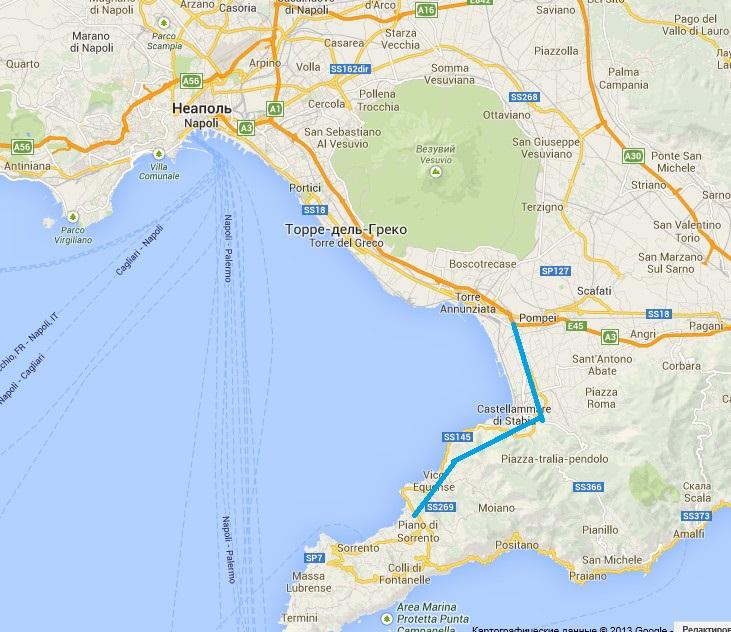 Карта везувиана