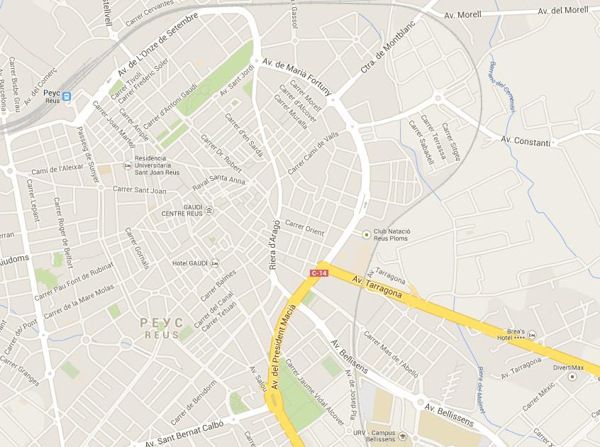 Карта Реус