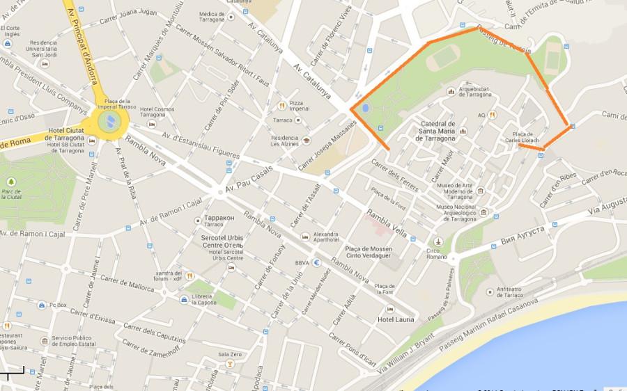 Карта Таррагона 11